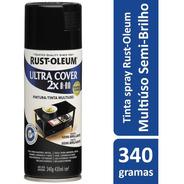 Spray Preto Semibrilho Plástico,vidro,alumínio,madeira,metal