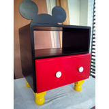 Precioso Mueble Con Cajon Mickey Mouse Con Orejas