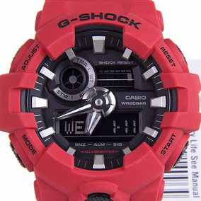 e46759556e7 Relógio Casio G Shock Ga-700-4a Vermelho 12x Sem Juros Ga700