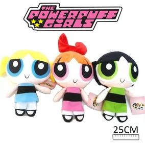 3 Bonecas De Pelúcia Meninas Superpoderosas Brinquedo