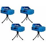 Kit 4 Projetor Holográfico Mini Laser Efeito Festa Balada 3d