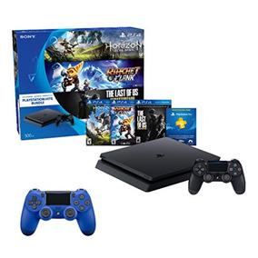 Consola Ps4 Slim 500 Gb + 2 Controles Dualshock + 3 Juegos