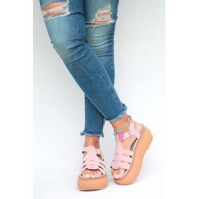 Franciscana Sandalia Zapato Plataforma Gomon Mujer Verano18