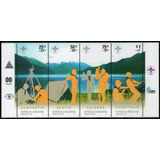 Argentina Serie X 4 Sellos Mint 100° Años Scout Mundial 2007