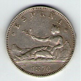 Barese2013 Moneda De Espana 1 Peseta 1870 Etrella 70