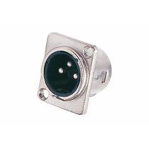 Conector Ficha Canon Macho Chasis 3 Pin Clc-x3mp Cablelab
