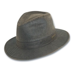 Gorra Degradado Algodón Sombrero Indiana Jones Hombres Oscu