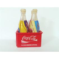 Mini Engradado Coca Cola + 4 Garrafas Olimpíadas Atenas 2004