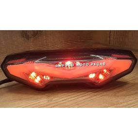 Lanterna Led Piscas Integrados Fumê Yamaha Mt-09 Mt09