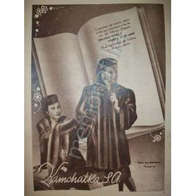 Foto Grabado Antiguo Pieles Y Abrigos Kamchatka 1944