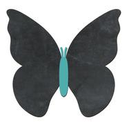 Pizarra Decorativa Pizarrón (no Vinilo) Mariposa Turquesa