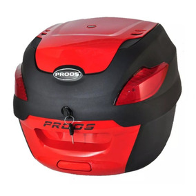 Bau Moto Bauleto 41 Litros Proos Motocicleta Preto Vermelho