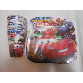Paquete Fiesta Cars Rayo Mcqueen 32 Personas Desechables