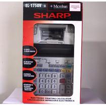Calculadora De Mesa Sharp El-1750v C/ Bobina -2 Cores