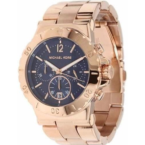 Relogio Michael Kors - Mk5410 Rose Azul Caixa E Manual