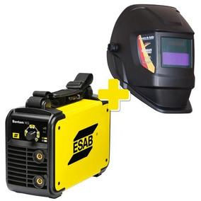 Máquina De Solda Inversora 145i Esab Com Máscara Solda