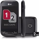 Smartphone Lg P698 Optimus Net Dual Sim 2 Chips Android Novo