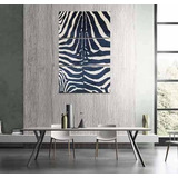 Cuadro Triptico Animal Print Cebra Negro Blanco 40x60cmtotal