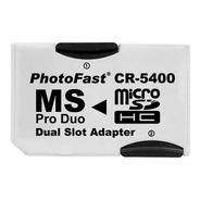 Adaptador Cr-5400 Micro Sd Photofast Memory Stick Ms Pro Duo