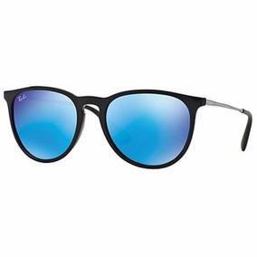 lentes ray ban espejados azules