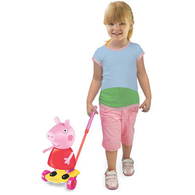 Boneco Peppa Pig De Empurrar Para Crianças Passear Líder