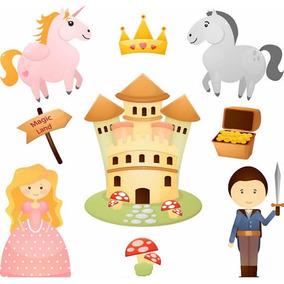 Kit Imprimible Princesas Y Castillos 9 Imagenes Clipart