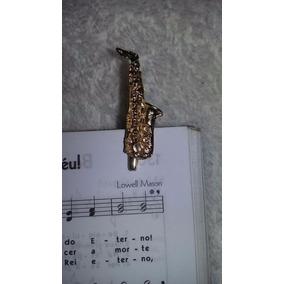 Prendedor Hinário Método Partitura Clipet Móvel Dourado Par