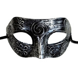 Mgmb Antiguo Romano Hombres De Plata Negro Halloween Mascar