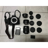 Camara Profesional Canon T6 Lentes 18 55, 50 Y 24 Mm Seminue