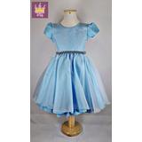 Vestido Infantil Cinderela Tamanhos 04 Ao 16