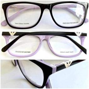 Armacao De Oculos Preto Com Rosa Armacoes Armani - Óculos no Mercado ... 3946c733cd