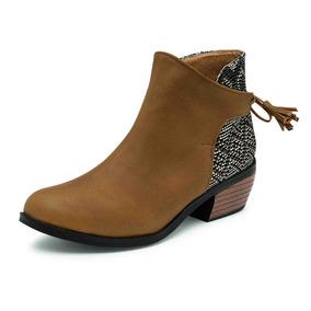 Botin Dama,bota, Negro, Bordado 511