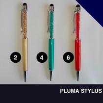 10 Plumas - Lapiceros Con Cristales Y Stylus