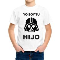 Playera Niño Personalizada Con Diseño Darth Vader Son
