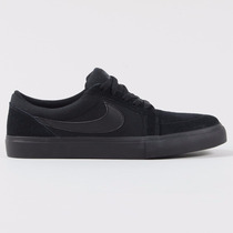 Zapatillas Nike Sb Satire Negro Suela Negra Gamuza Canvas