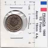 Moneda Del Mundo Francia 1/2 Franco 1968 F5