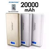 Bateria Externa Carregador Portatil Samsung Iphone 20000ma