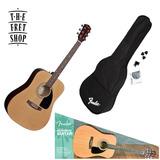 Kit De Guitarra Fender Fa-100 Acustica Estuche Afinador Tali