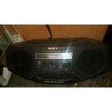 Radiograbadora Cd Am Fm Cassette Con Megabass Sony En Remate