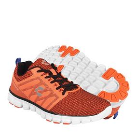 Tenis Para Correr Charly Para Hombre Textil Naranja 1021837