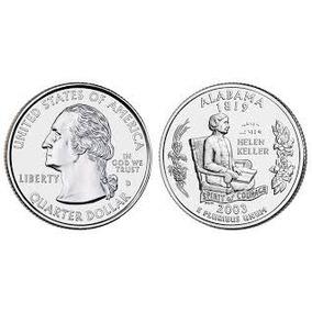 Moedas Estados Unidos Quarter Dolar Alabama 2003 Fc