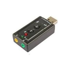 Tarjeta De Sonido 7.1 3d Usb Tipo Pendrive Controles Volumen