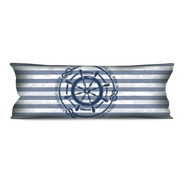 Almofada Grande Náutica Marinheiro 35x95 Para Sofá Ou Cama
