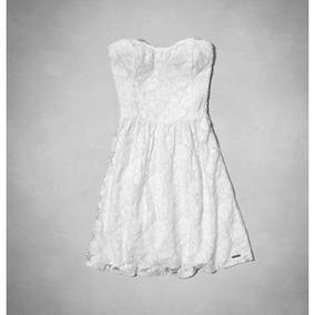 Vestido De Renda Abercrombie & Fitch Branco