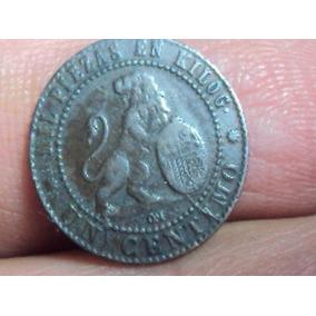 Moneda España 1 Centimos 1870 Km660 Ref (a10)
