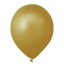 Balão Art-latex Nº8 Ouro - Bexiga Dourada Metalizada 50unid.