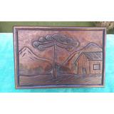 Caixinha Antiga Em Madeira Maciça Entalhada De Imbuia