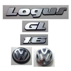 Kit Emblemas Volkswagen Logus Gl 1.6 Vw Mala Grade 91 À 97
