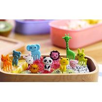 Set Palillos Botaneros Animales Niños Colores Fork Animals