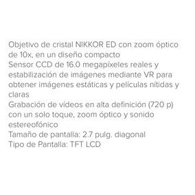 Cámara Fotográfica Nikon 16 Megapixeles